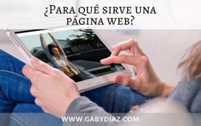 ¿Para que sirve una página web?